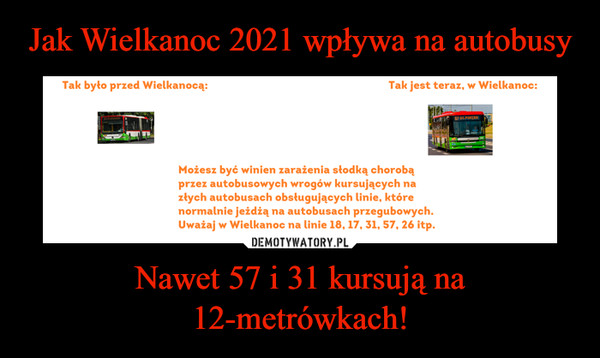 Nawet 57 i 31 kursują na 12-metrówkach! –