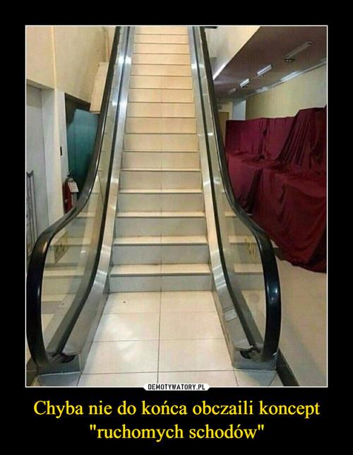 """Chyba nie do końca obczaili koncept """"ruchomych schodów"""""""