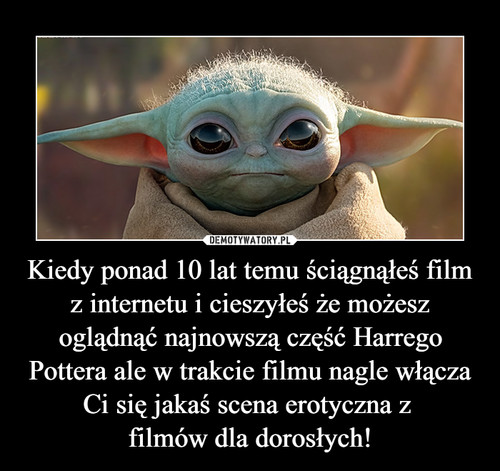 Kiedy ponad 10 lat temu ściągnąłeś film z internetu i cieszyłeś że możesz oglądnąć najnowszą część Harrego Pottera ale w trakcie filmu nagle włącza Ci się jakaś scena erotyczna z  filmów dla dorosłych!