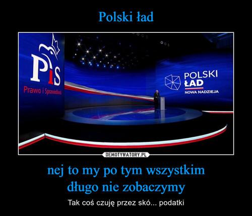 Polski ład nej to my po tym wszystkim długo nie zobaczymy