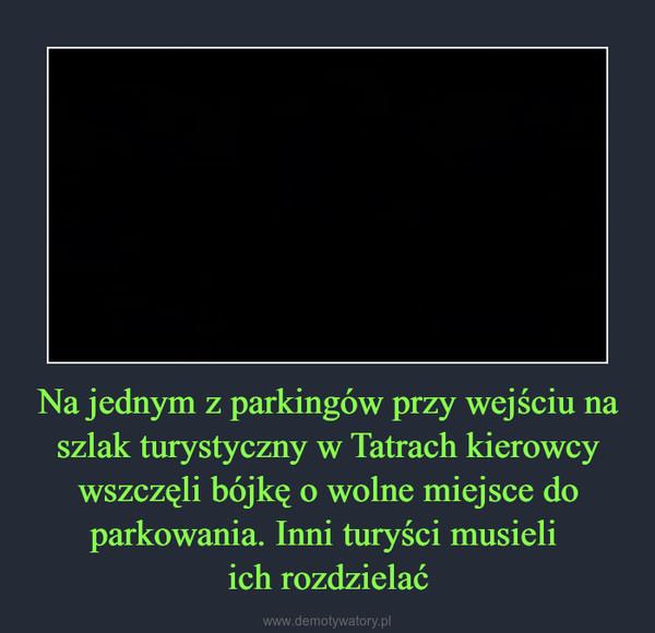 Na jednym z parkingów przy wejściu na szlak turystyczny w Tatrach kierowcy wszczęli bójkę o wolne miejsce do parkowania. Inni turyści musieli ich rozdzielać –