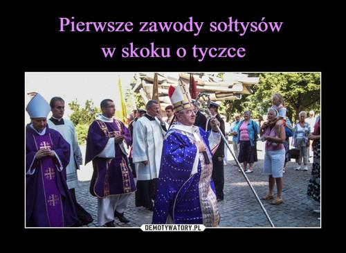 Pierwsze zawody sołtysów  w skoku o tyczce