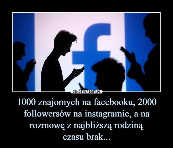 1000 znajomych na facebooku, 2000 followersów na instagramie, a na rozmowę z najbliższą rodzinączasu brak... –