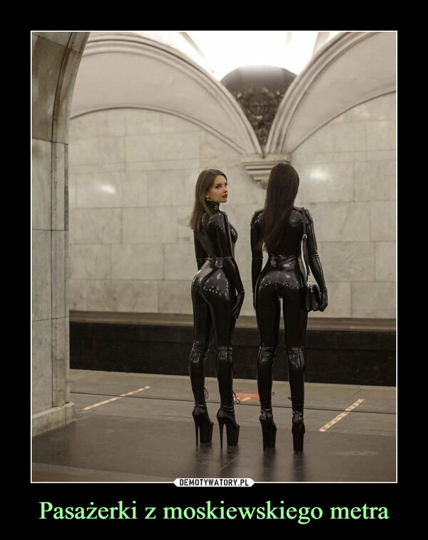 Pasażerki z moskiewskiego metra –