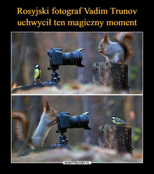 Rosyjski fotograf Vadim Trunov uchwycił ten magiczny moment