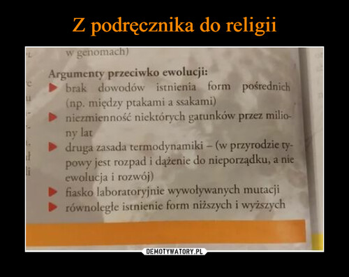 Z podręcznika do religii