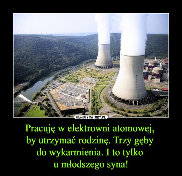 Pracuję w elektrowni atomowej, by utrzymać rodzinę. Trzy gęby do wykarmienia. I to tylko u młodszego syna!