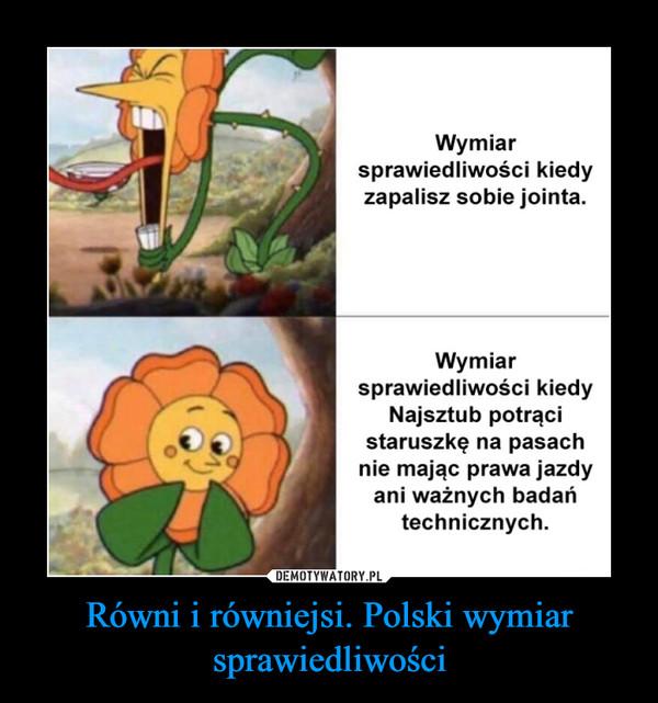 Równi i równiejsi. Polski wymiar sprawiedliwości